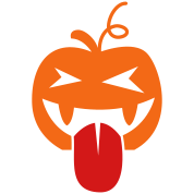 halloween crazy tongue lickin pumpkin