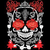 rose eyes skull