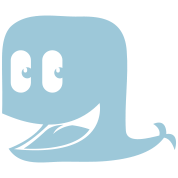 cool cute funny blue whale