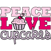 Peace, Love & Cupcakes pink