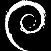 White Debian Logo