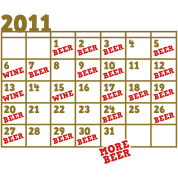 2011 BEER CALENDAR month new years