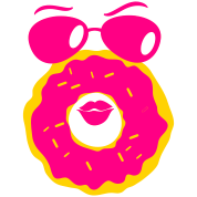 doughnut with a cute face