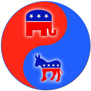 Republican Democrat Yin Yang