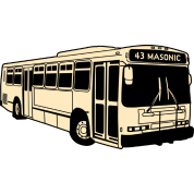 43 Masonic Muni Bus