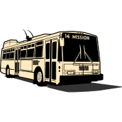 14 Mission Muni Bus