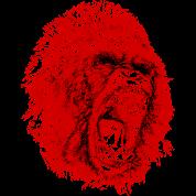 Gorilla Roaring Red !