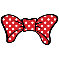 Design ~ Bow Red With White Dotts