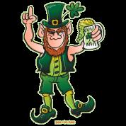 Saint Patrick's Day Leprechaun Drinking Beer