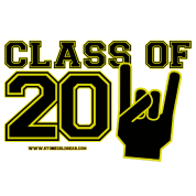 Graduation class of 2011 Black and gold