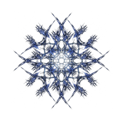 """Barbed Blue"" Fractal Geometry Art"