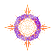 """Fractal Compass"" Geometric Art"