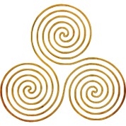 triple spiral one line gold