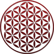 flower of life 1 - red glass stamp