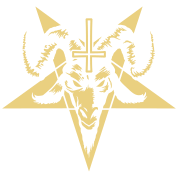 Satanic Goat Head with Pentagram (inverted)