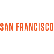 San Francisco Orange White