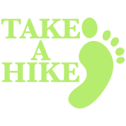 take a hike with footprint HIKING shirt