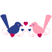 love birds cute vintage on a vine