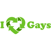 I love Gays - Recycle Heart (dd print)