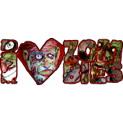 i love zombies - white
