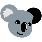 koala with a cute smile