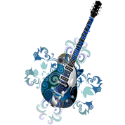Urban Legend Grunge Guitar with Logo on Neck of Guitar,Transparent Gif