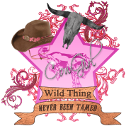 CowGirl Wild Thing never been tamed Pink 2 Leather