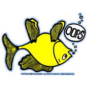 OOPS Upside Down Fish, Sparky the Fish, By FabSpark