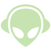 Alien headphones Glow in the dark