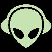 Alien headphones Glow in the dark