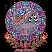 Native Huichol Peyote Deer