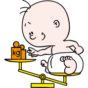 Baby weight scale