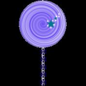 purple lollipop candy