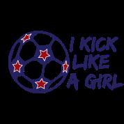 I Kick Like A Girl Soccer