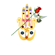 Hamsa and Flowers
