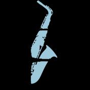 Saxophone musician motif