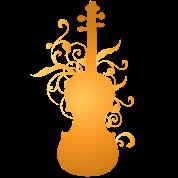 Violin Music Stylized Orchestra Instrument