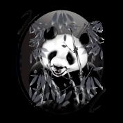 Grey Tone Panda Oval