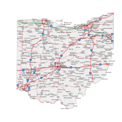 ohio, road map