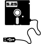 5.25-inch floppy disk USB Geek Nerd