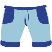 pair of childs pants shorts