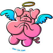 Pig Angel Praying