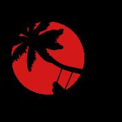 Palm tree sunset swings holiday freedom