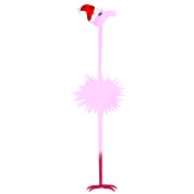 Pink Christmas Flamingo 2