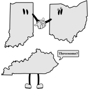Tri-State Threesome Shirt - Ohio, Indiana and Kentucky
