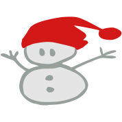 snowman & santa_hat vector art
