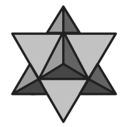 merkaba black and white