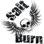Salt N Burn Screaming Flying Skull Black