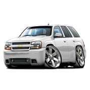 Chevy Trailblazer white truck
