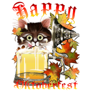 Happy Oktoberfest Beer Kitty